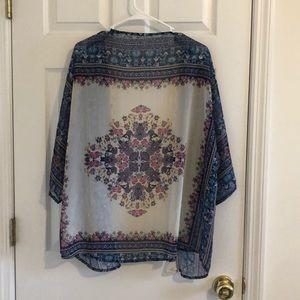 Sweaters - Colorful kimono shrug